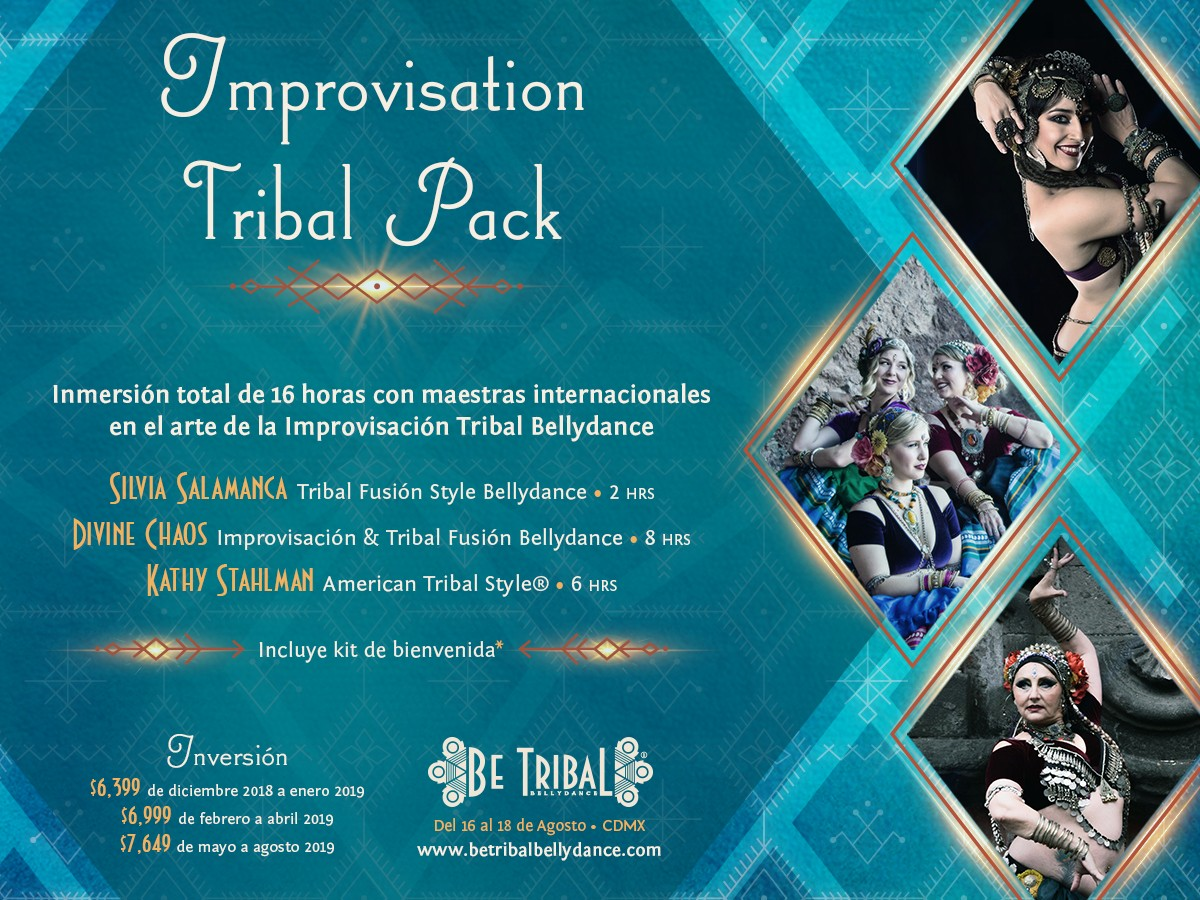 Be Tribal Bellydance 2019 Pack Improvisation Tribal Pack