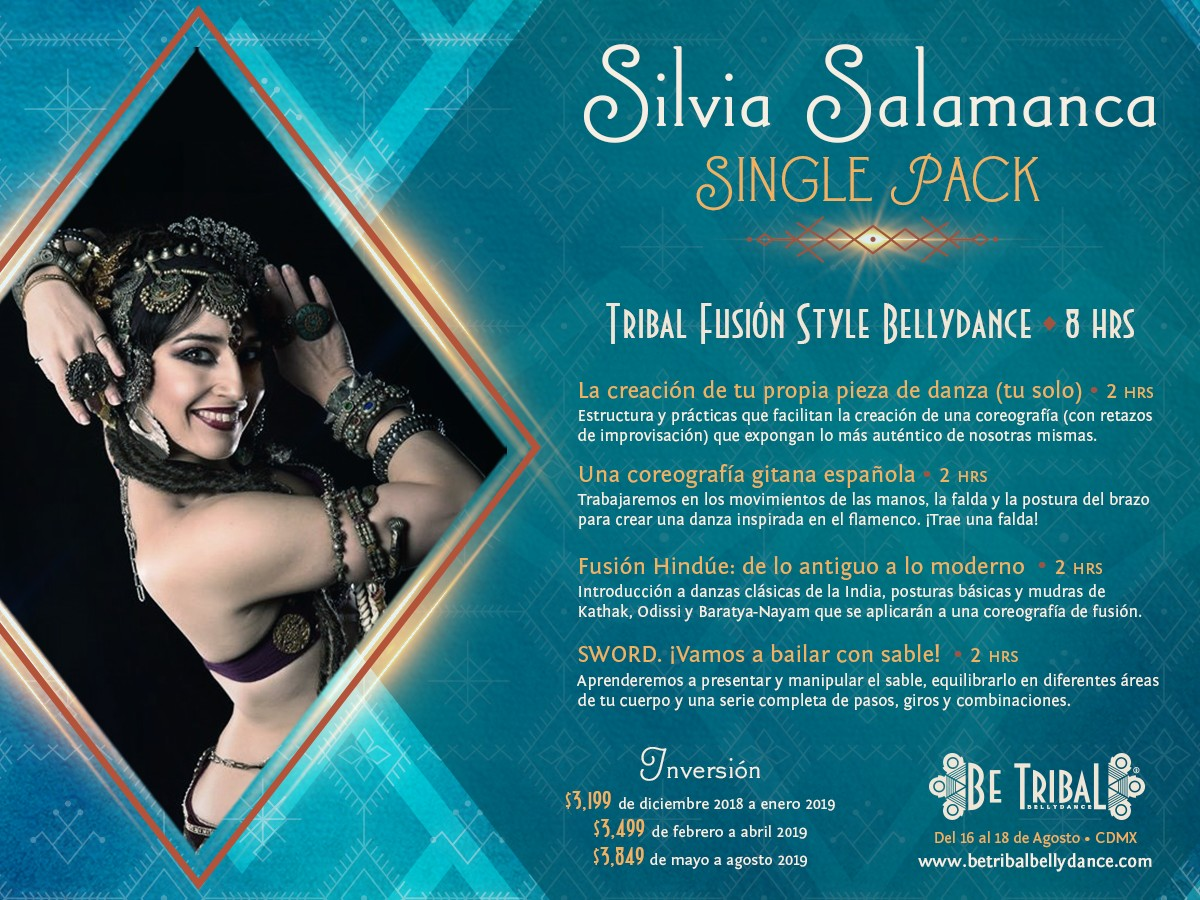 Be Tribal Bellydance 2019 Single Pack Silvia Salamanca