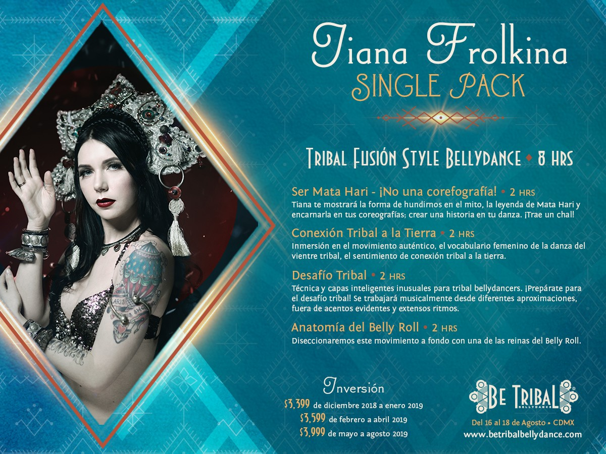 Be Tribal Bellydance 2019 Single Pack Tiana Frolkina